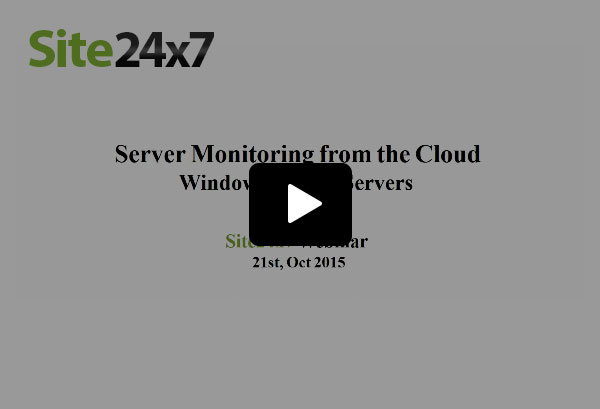 Server Monitoring from the Cloud
